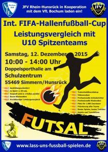FIFA Hallenfussball Turnierinfoflyer 2015 U10 Teams