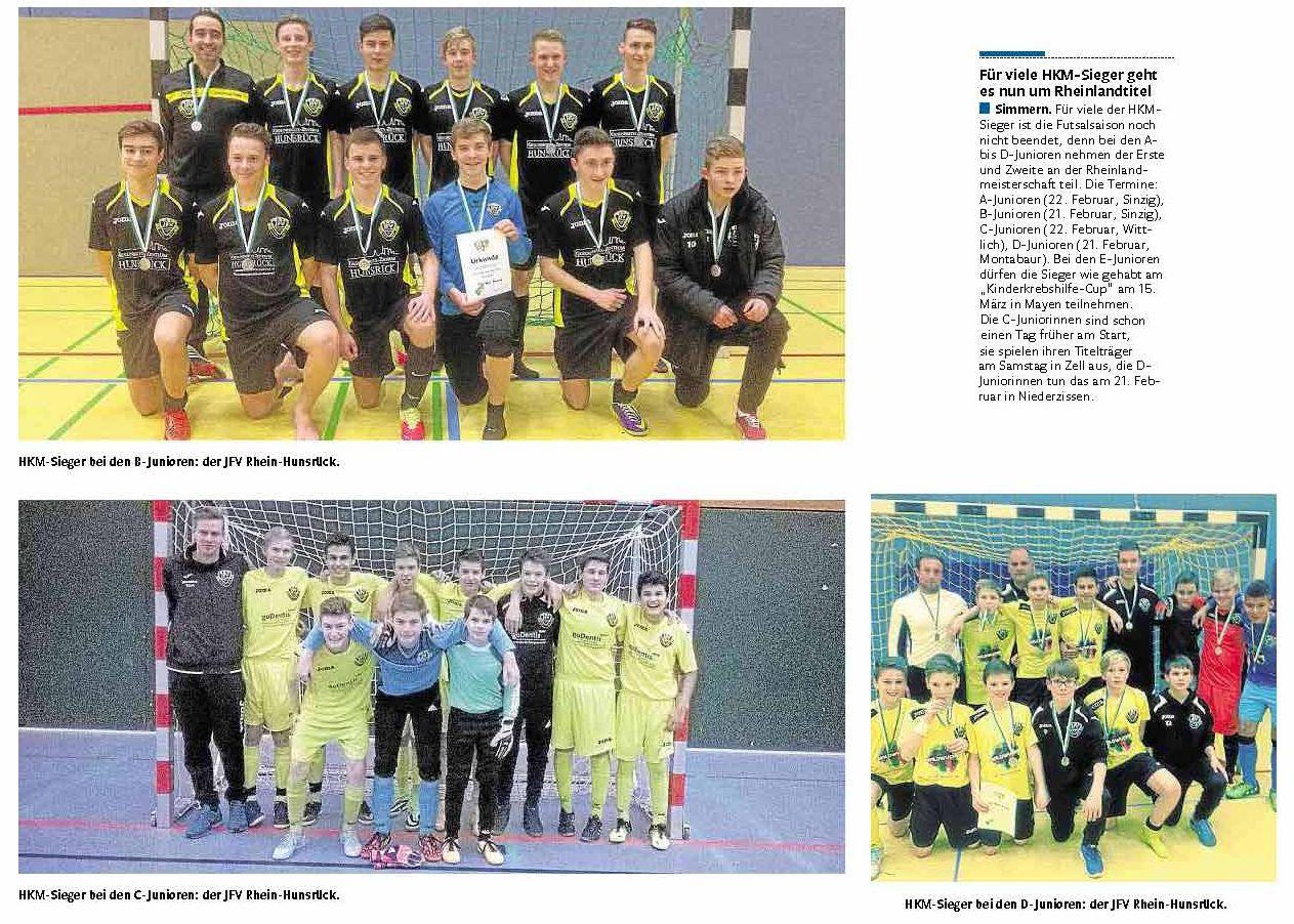 Futsal Regionalmeister 2015 - Team D - B